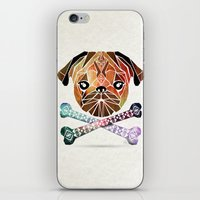 pug iPhone & iPod Skins featuring pug by Manoou