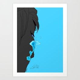 Cyan Tears Art Print