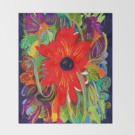 Beautiful flower art pattern decorative Throw Blanket