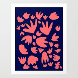 Living Coral Color of the Year Pattern Abstract Art Decorative Art Print
