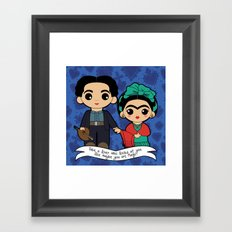 Frida and Diego Framed Art Print