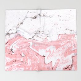 Pastel Marble Throw Blanket