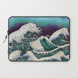 Northern Lights Ocean Waves Laptop Sleeve