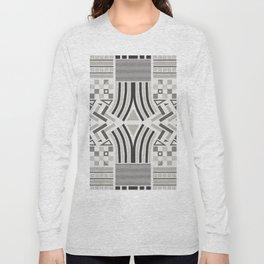 Festive pattern (black & white) Long Sleeve T-shirt