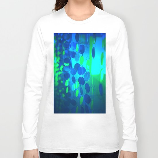 UNDERWATER GLAM CIRCLES #Blue #2 Long Sleeve T-shirt