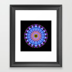 Sacred Crown - Mandala Art By Sharon Cummings Framed Art Print