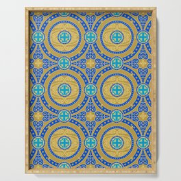 Seamless pattern of gold arabesques. Patterns. Serving Tray