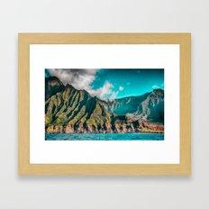 Na' Pali Coast, Kauai, Hawaii Framed Art Print