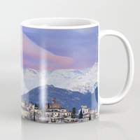 nasa Mugs featuring NASA APOD. ASTRONOMY PICTURE OF THE DAY! Lenticular clouds over Granada and Sierra Nevada at sunset by Guido Montañés