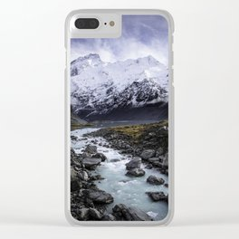 Mount Cook Clear iPhone Case