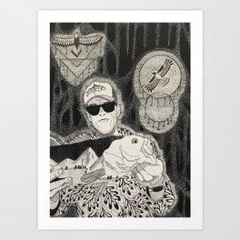 Cosmic Bass Art Print