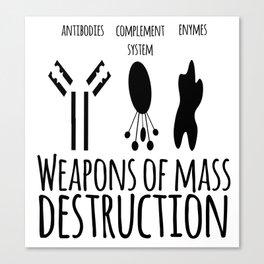Weapons of mass destruction Canvas Print