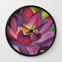 Lotus in Bloom Wall Clock