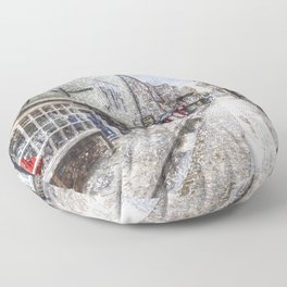The Shambles York Snow Art Floor Pillow