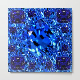 AWESOME SEPTEMBER BLUE  SAPPHIRES GEM BIRTHSTONE ART Metal Print