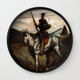 Honore Daumier - Don Quixote in the Mountains Wall Clock