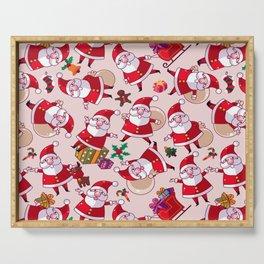 Santa Gift Pattern Serving Tray