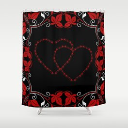Hearts Entwine Shower Curtain