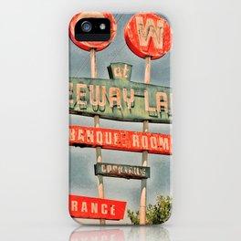 Freeway Lanes Bowl - Selma, CA iPhone Case