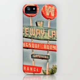 Freeway Lanes Bowl - Selma, CA iPhone Case