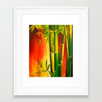 bamboo Framed Art Prints featuring Bamboo by OLHADARCHUK