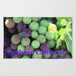 Red grapes,Northern California and harvest time in Napa Rug