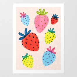 Bright Berries Art Print
