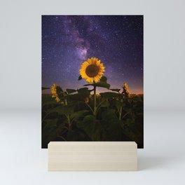 Galaxy Flowers Mini Art Print