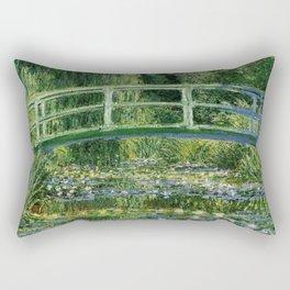 Water Lilies And The Japanese Bridge Claude Monet Rectangular Pillow