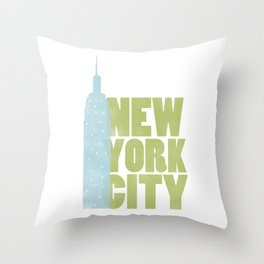 New York City - Empire State Throw Pillow