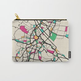 Colorful City Maps: Vienna, Austria Carry-All Pouch