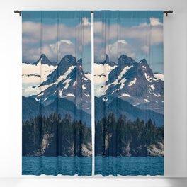 Kachemak_Bay Mountains - Alaska Blackout Curtain