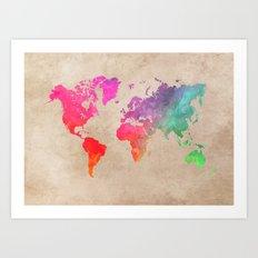 world map 41 Art Print