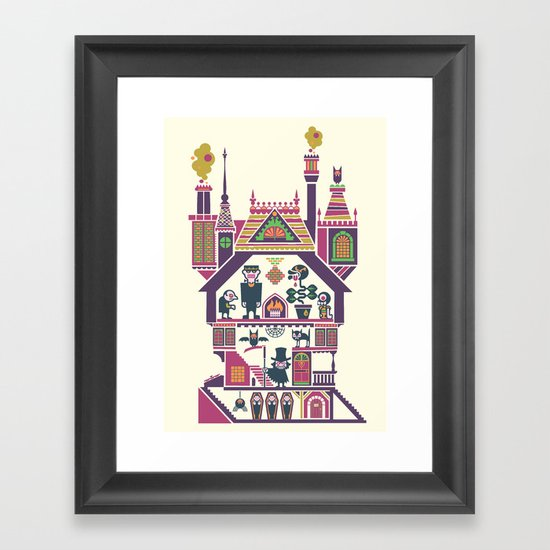 House Of Freaks Framed Art Print