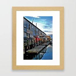 Market on the side Framed Art Print