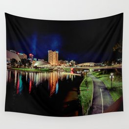 Adelaide Riverbank at Night IV Wall Tapestry