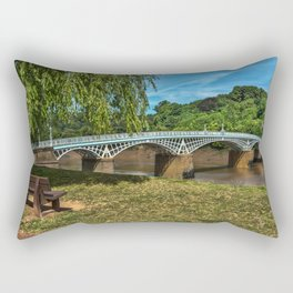 A Riverside Seat At Chepstow Rectangular Pillow