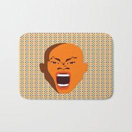 orange color male head screaming face pattern digital art zolliophone Bath Mat