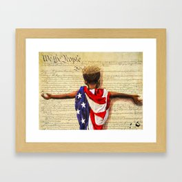 Stars and Stripes 2020 Framed Art Print