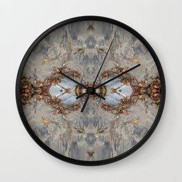 Two Decorated Hearts (Mandalaesque #41c) Wall Clock