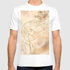 WINDS OF CHANGE. White MEDIUM Mens Fitted Tee