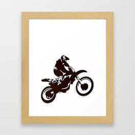 Motor X Silhouette Framed Art Print