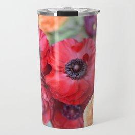 Rosey Ranunculus Travel Mug