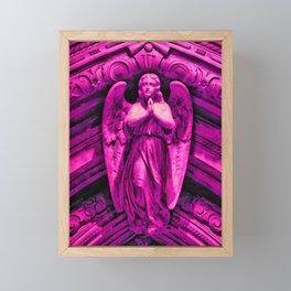 Hot Pink Angel Framed Mini Art Print