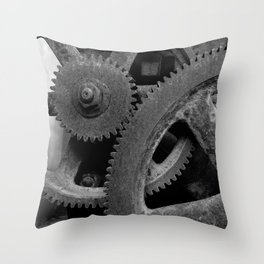 Big Gears Throw Pillow