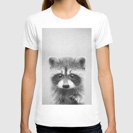 Raccoon - Black & White T-shirt