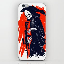 Military skeleton - grim soldier - gothic reaper iPhone Skin