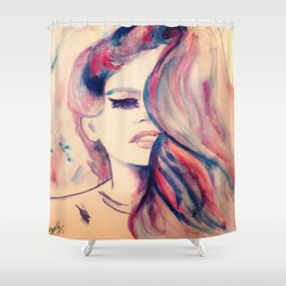 Touched Shower Curtain