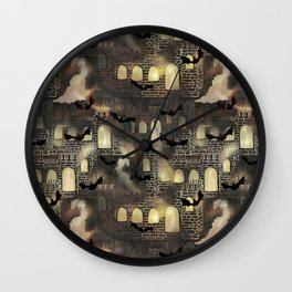 haunted castle Wall Clock