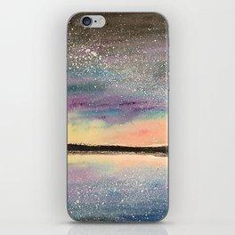 The Starry Lake, Original Watercolor iPhone Skin